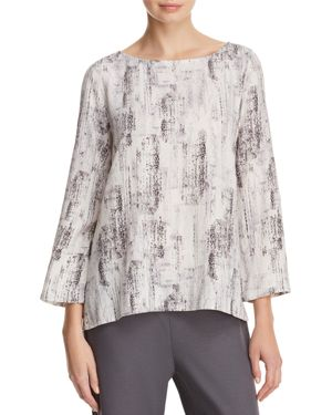Eileen Fisher Boat Neck Printed Top 2776279