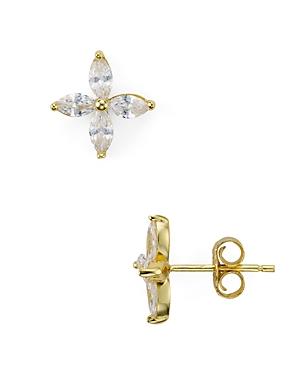 Sterling Silver Floral Stud Earrings