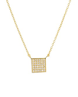 "AQUA - Sterling Silver Square Pendant Necklace, 16"" - 100% Exclusive"