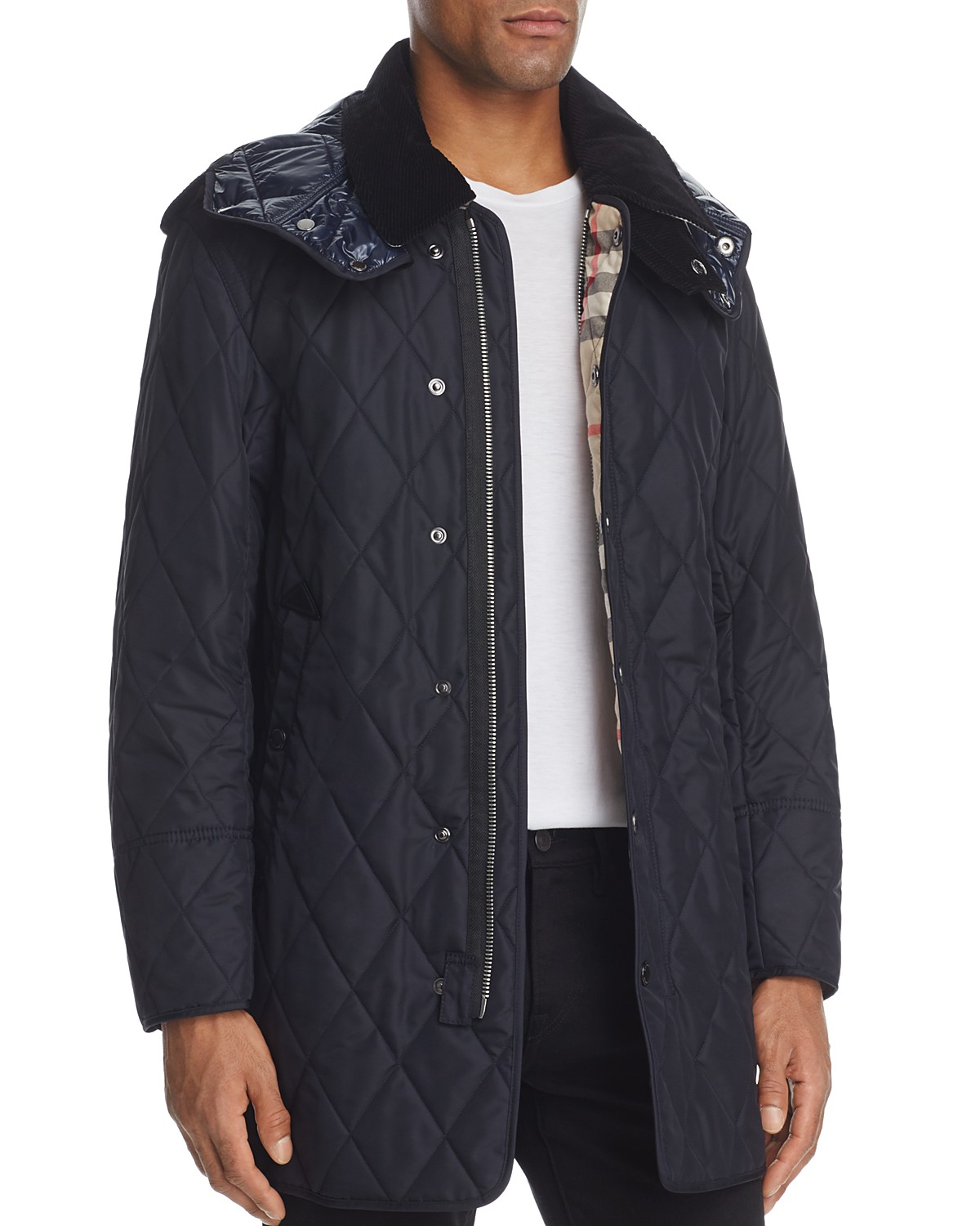 lyst quilted for vest quilt gallery brit haymarket in product diamondquilted diamond mens jacket burberry black men clothing