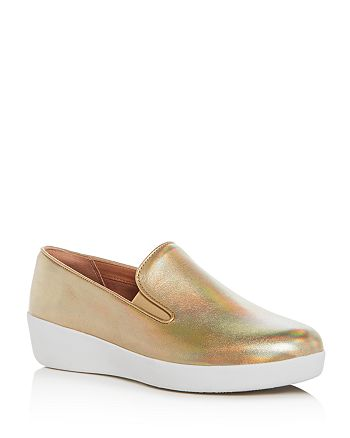 5345f0b3655 FitFlop - Women s Superskate Leather Sneaker Loafers