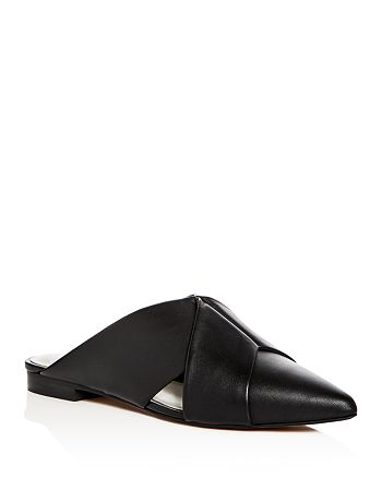1.STATE - Women's Rime Leather Pointed Toe Mules