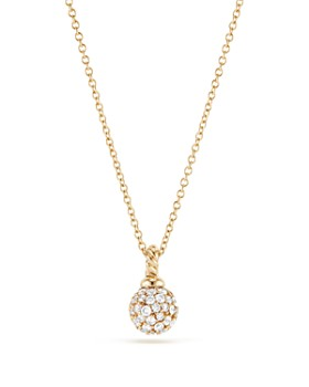 David Yurman - Solari Pavé Pendant Necklace with Diamonds in 18K Gold