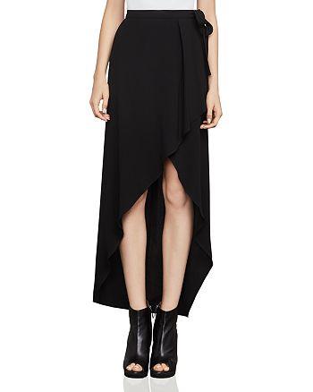 BCBGMAXAZRIA - Roxy Asymmetric Faux-Wrap Skirt