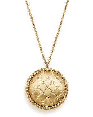 Bloomingdale's Quilted Button Pendant Necklace in 14K Yellow Gold, 18 - 100% Exclusive