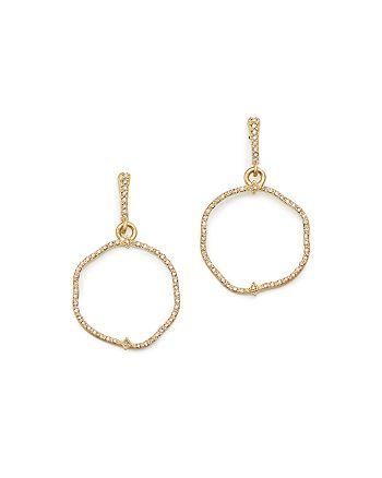 Armenta - 18K Yellow Gold Sueno Freeform Drop Earrings with Champagne Diamonds