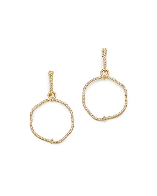 Armenta - 18K Yellow Gold Sueno Freeform Drop Earrings with Champagne Diamonds