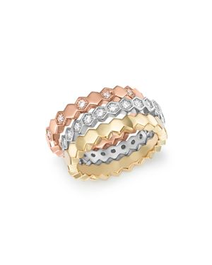 Blopmingdale's Diamond Stacking 3 Ring Set in 14K Gold, 0.60 ct. t.w. - 100% Exclusive