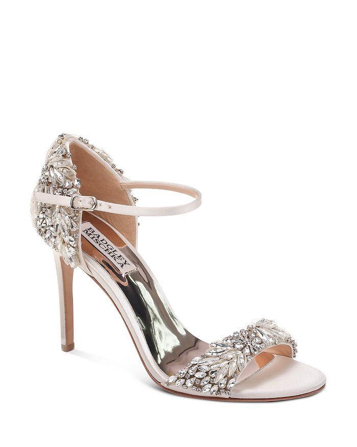 555118fff8e Badgley Mischka - Women s Tampa Embellished d Orsay Ankle Strap Sandals