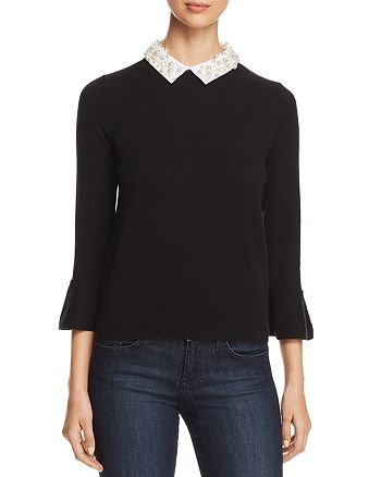 kate spade new york - Embellished Collar Sweater