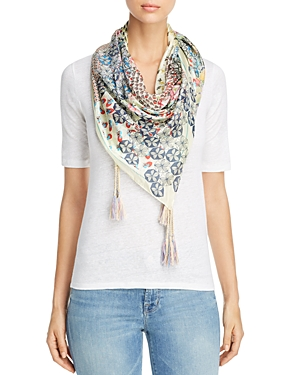 Johnny Was Collection Puzzle Printed Silk Scarf