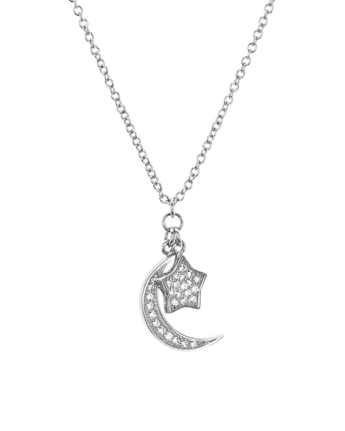"""AQUA Sterling Silver Star & Moon Pendant Necklace, 16"""" - 100% Exclusive    Bloomingdale's"""