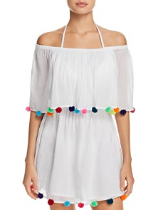 Pitusa - Pom-Pom Festival Dress Swim Cover-Up