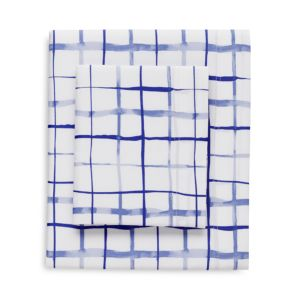 bluebellgray Watercolor Plaid Sheet Set, California King