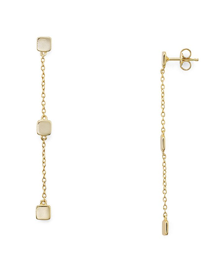 AQUA - Sterling Silver Cube Drop Earrings - 100% Exclusive