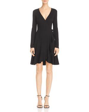 Aqua Rib-Knit Faux Wrap Dress - 100% Exclusive 2791384