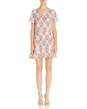 AQUA - Printed Flounce-Hem Dress - 100% Exclusive