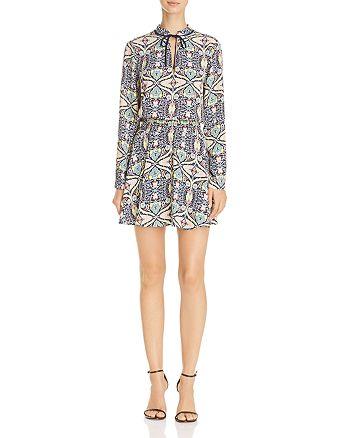 AQUA - Paisley Floral Print Dress - 100% Exclusive