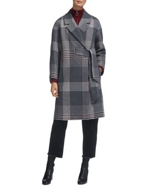 Whistles Magdelina Checkered Coat
