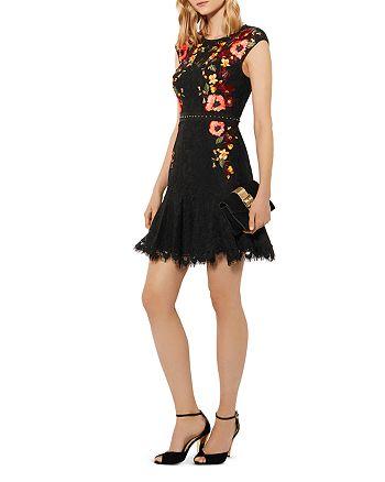 KAREN MILLEN - Embellished Lace Mini Dress