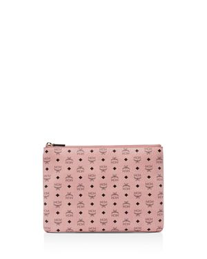 Medium Visetos Original Crossbody Pouch, Baby Pink/Gold