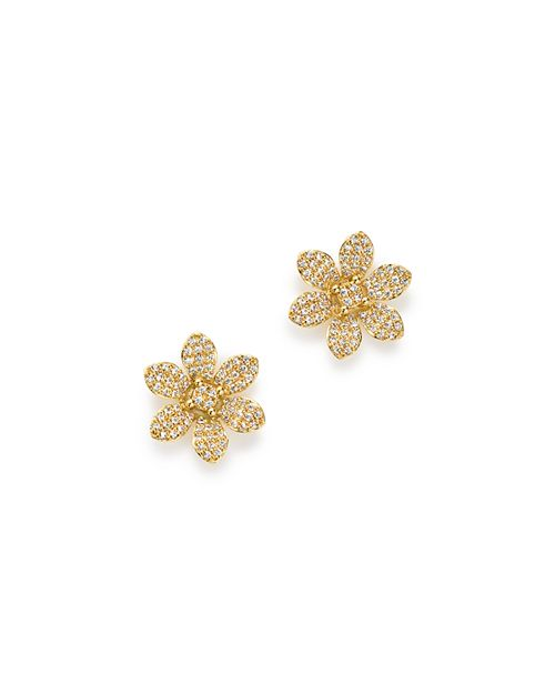 Bloomingdale's - Diamond Flower Stud Earrings in 14K Yellow Gold, 0.50 ct. t.w. - 100% Exclusive