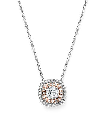 Bloomingdale's - Diamond Pendant Necklace in 14K Rose & White Gold, 0.50 ct. t.w. - 100% Exclusive