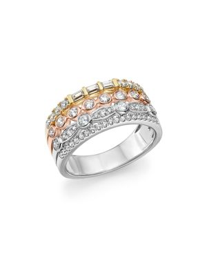 Bloomingdale's Diamond Round & Baguette Multi-Row Band in 14K Gold, 0.85 ct. t.w. - 100% Exclusive