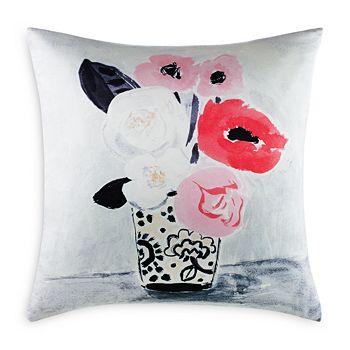 "kate spade new york - White Peony Decorative Pillow, 20"" x 20"""
