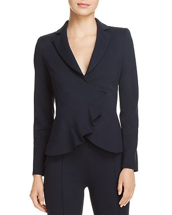 Emporio Armani - Asymmetric Pleated Blazer