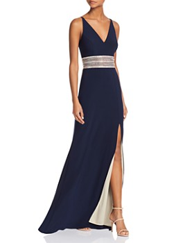 Avery G - Embellished-Waist Gown