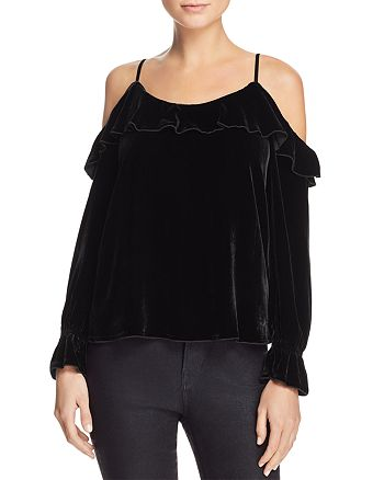 Joie - Alyse Cold-Shoulder Velvet Top