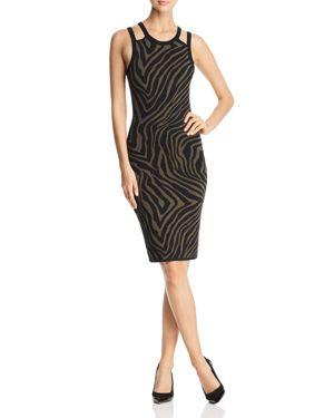 Michael Michael Kors Zebra Stripe Tank Dress