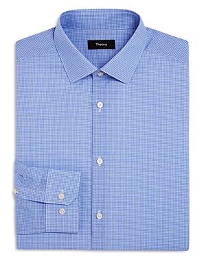 Theory Dover Hatch Check Regular Fit Dress Shirt