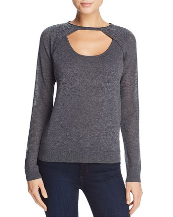 AQUA - Contrast Knit Sweater - 100% Exclusive