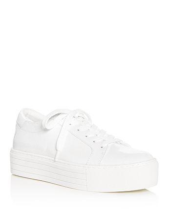 7e153f9172d2 Kenneth Cole - Women s Abbey Techni-Cole Patent Leather Platform Lace Up  Sneakers
