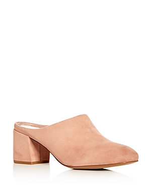 Kenneth Cole Women's Edith Suede Block Heel Mules