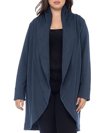 B Collection by Bobeau Curvy - Peri Quilted Shawl Collar Knit Jacket