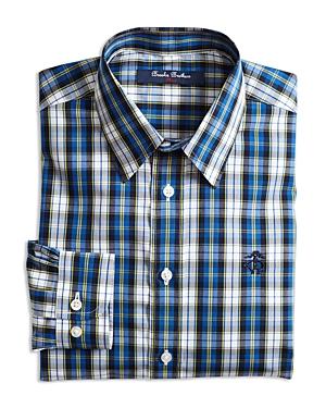 Brooks Brothers Boys' Plaid Sport Shirt - Big Kid