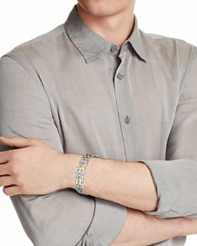 Bloomingdale's - Diamond Men's Bracelet in 14K Yellow Gold & Sterling Silver, 0.50 ct. t.w. - 100% Exclusive