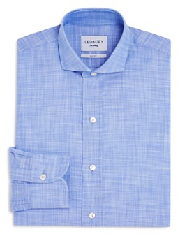 Ledbury - Chambray Slim Fit Dress Shirt