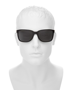 Burberry - Men's Polarized Honey Check Square Sunglasses, 56mm