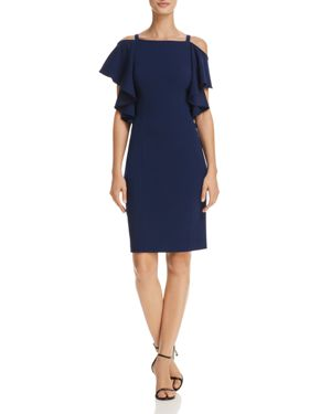 Adrianna Papell Cold-Shoulder Sheath Dress 1905815