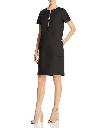 Lafayette 148 New York Archie Zip Front Dress Bloomingdales