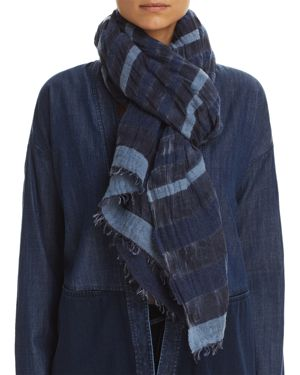 Eileen Fisher Semi-Sheer Striped Scarf
