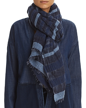 Eileen Fisher Semi-Sheer Striped Scarf at Bloomingdale's