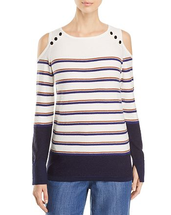 NIC and ZOE - Spring Ahead Cold-Shoulder Sweater