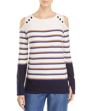 Nic+Zoe Spring Ahead Cold-Shoulder Sweater