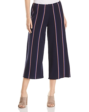Nic+Zoe Lined Up Cropped Wide-Leg Knit Pants