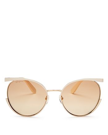 Salvatore Ferragamo - Women's Round Sunglasses, 58mm